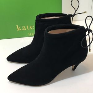 Kate Spade Black Suede Ankle Boots Size 6.5 M